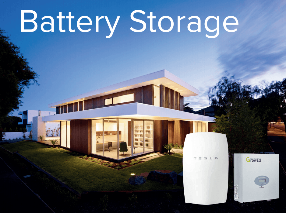 existing battery storage installation house