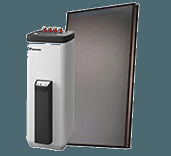 Hot water air source heat