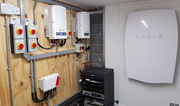 Tesla powerwall 2 installation in garage