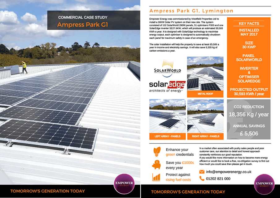 Commercial 30KW Solar Panel Installation At Ampress