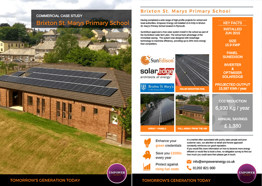 Solar Pv grant for schools Brixton St. Marys Primary School case study