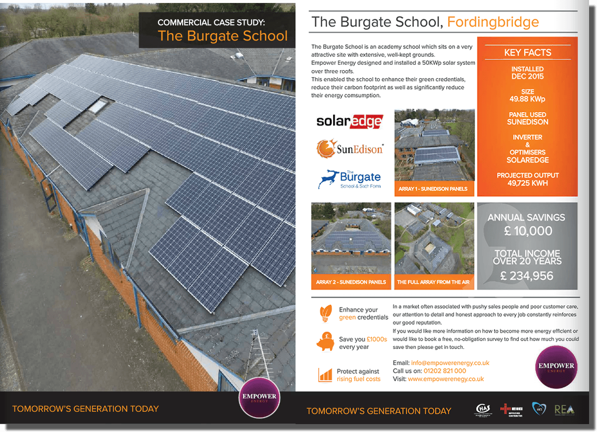 Solar Installation For Schools The Burgate School Case Study