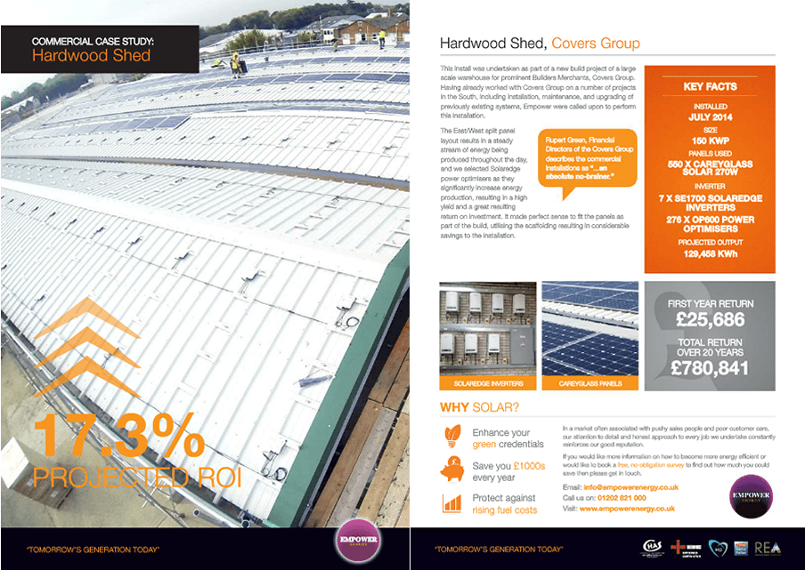 Hardwood Shed case study solar panels for small business