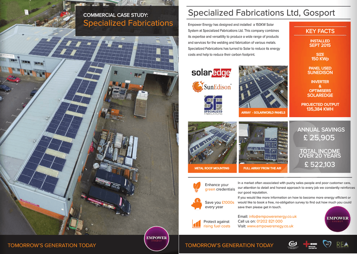 Power Purchase Agreement Specialized Fabrications Ltd