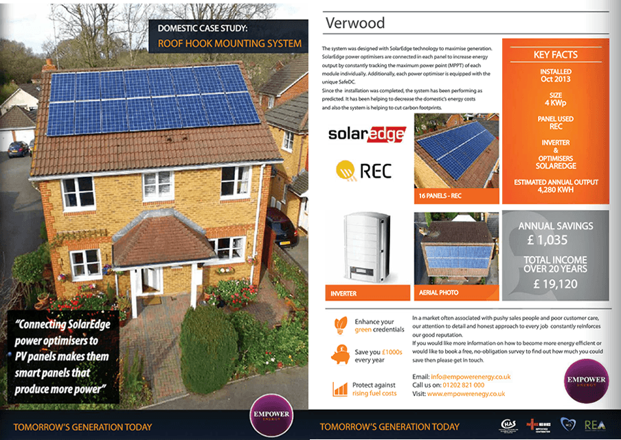 Domestic solar system case study Horwood
