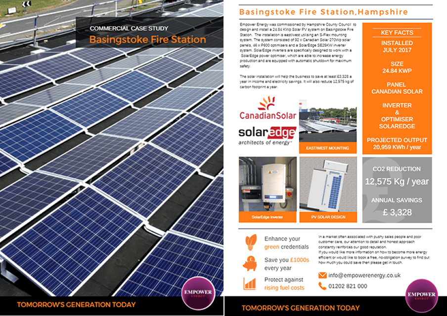 Empower Solar Panel Installer Hampshire were commissioned to design a 16.8KWp solar pv system -