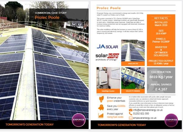 Prolec Poole industrial solar panels