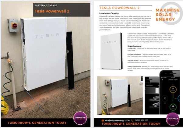 Tesla Powerwall 2 installation in Verwood