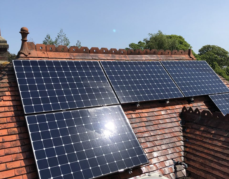domestic cleaning onsolar panels