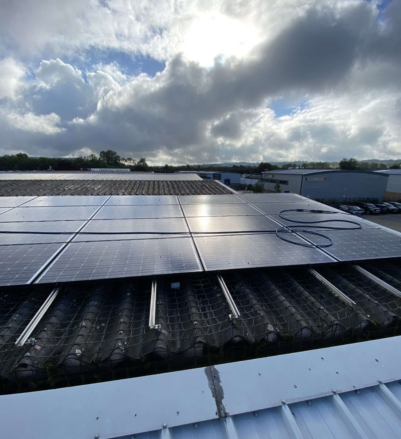 Commercial Solar Cleaning, Maintenance For A Client In Surrey