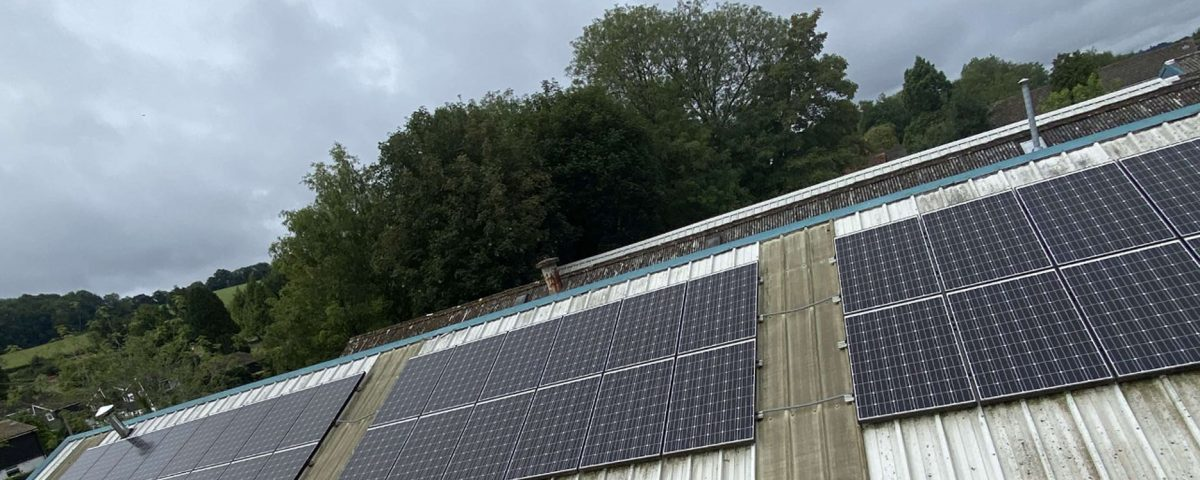 solar cleaning for commercial building