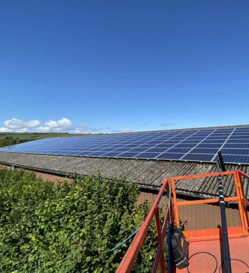Solar Cleaning, Maintenance For A Client In  Dorset
