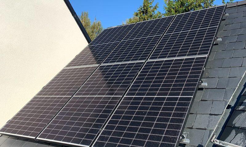 solar panel installation on domestic roof