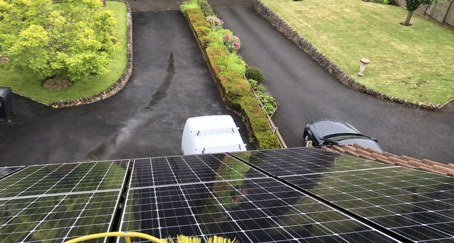 Domestic solar panel maintenance