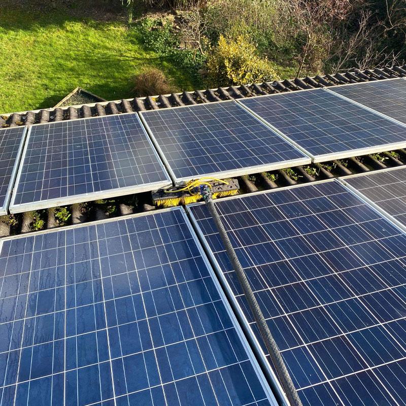 Maintenance clean on solar panels
