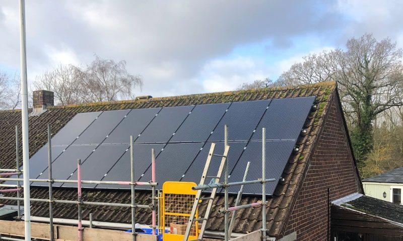 Domestic solar installation in Dorset