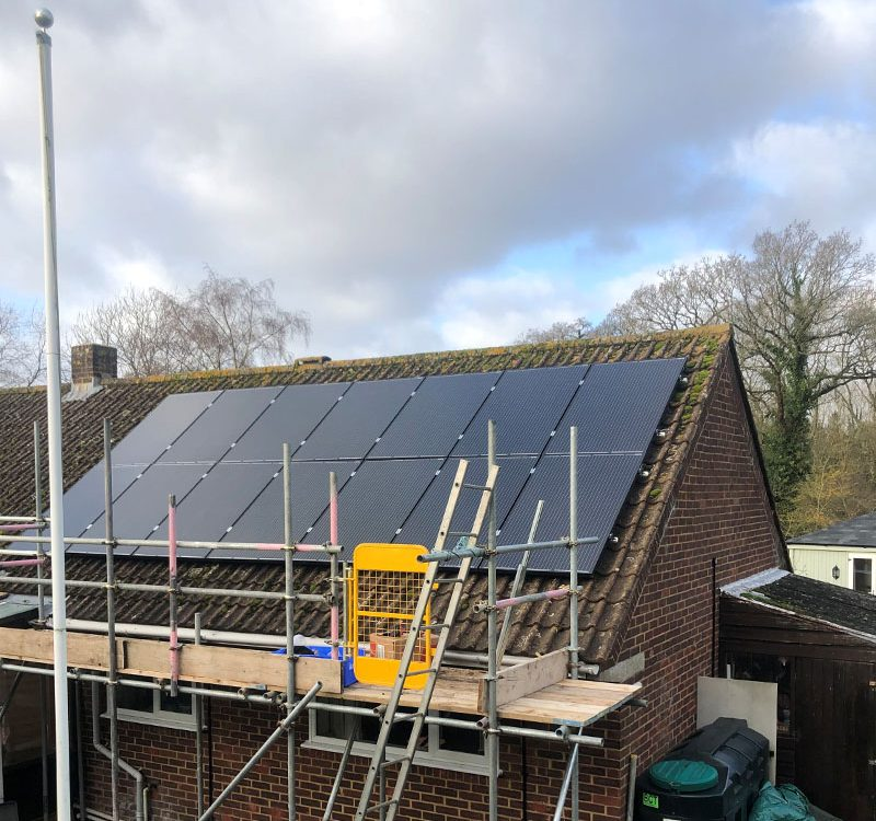 Domestic solar installation in Dorset