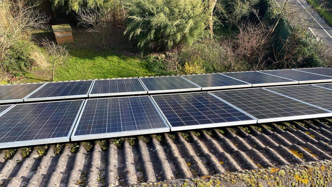 Domestic solar panel maintenance for a customer in Lymington