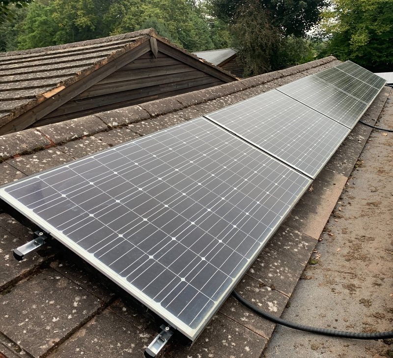 domestic solar on slanted roof