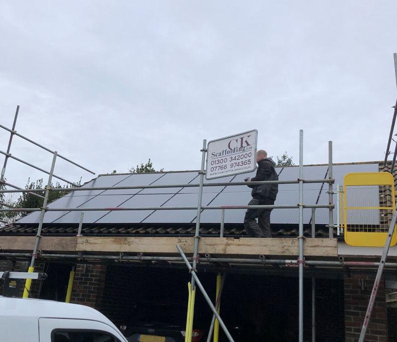 Little fox garage solar installation