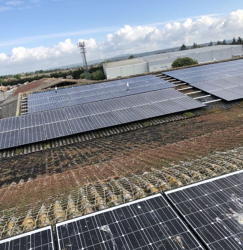 Clean on solar panels in Chichester
