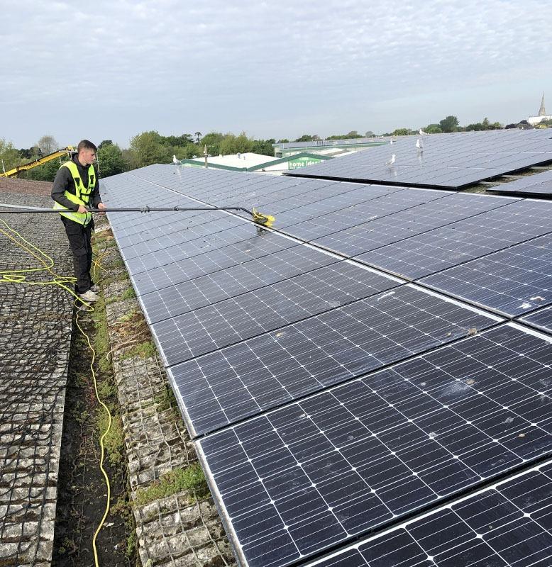 commercial solar panels clean