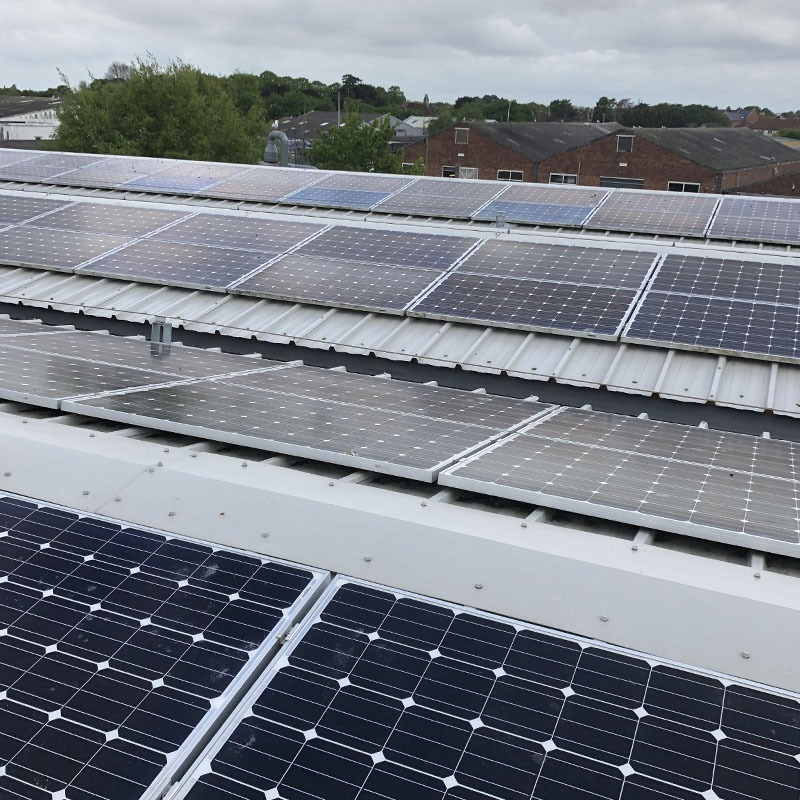 Chichester commercial solar panel clean