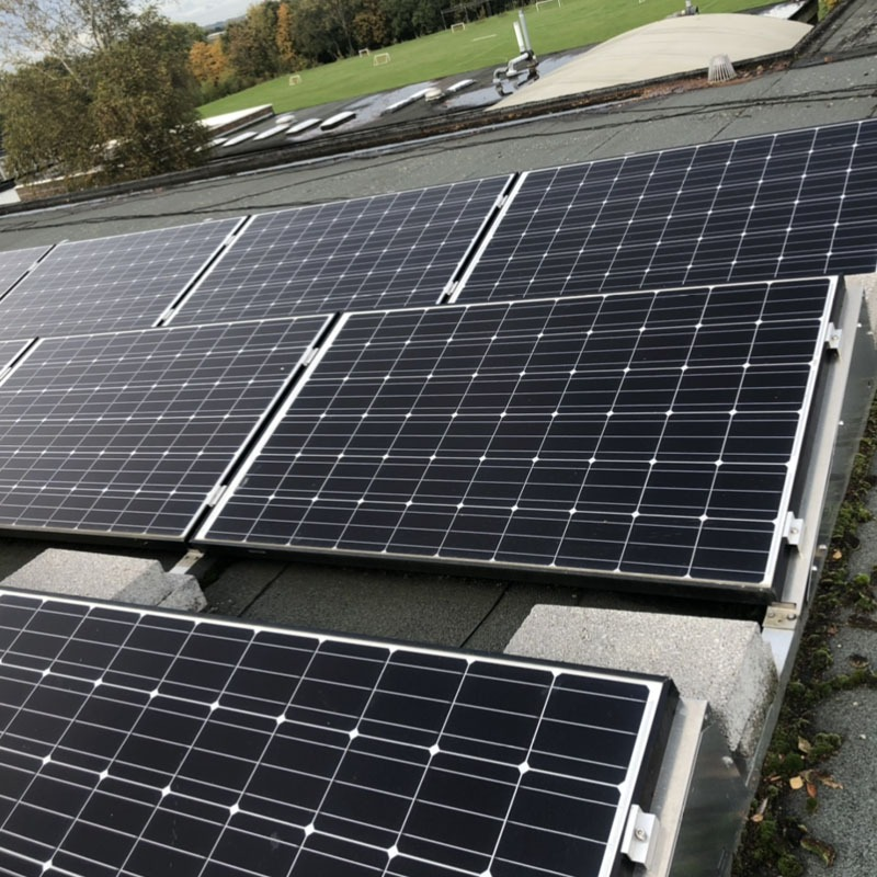 Solar panel clean for individual panels