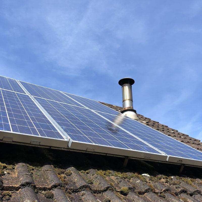 Solar panel maintenance clean