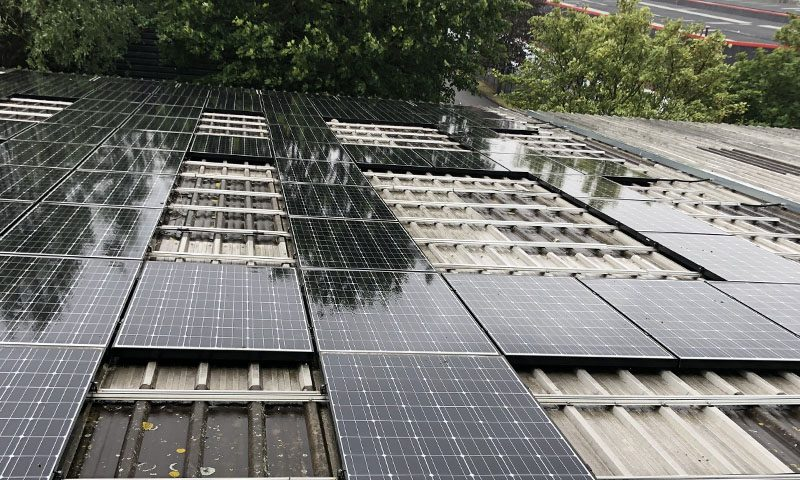 Solar clean on panels