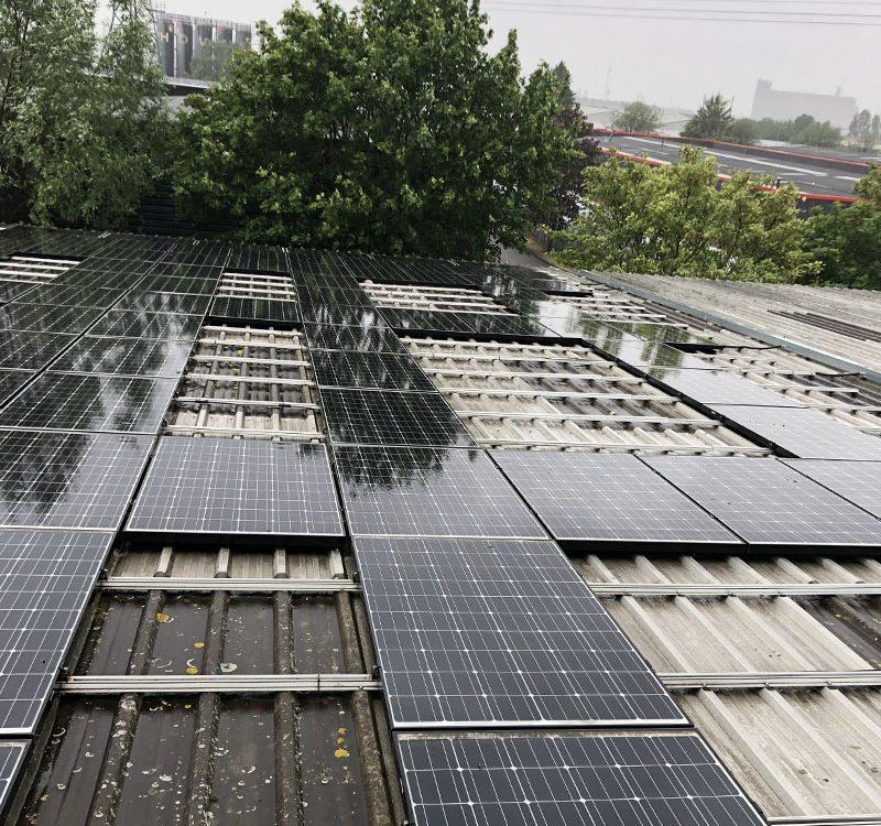 Solar clean on panels