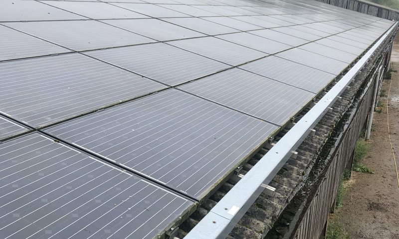 solar cleaning on panels