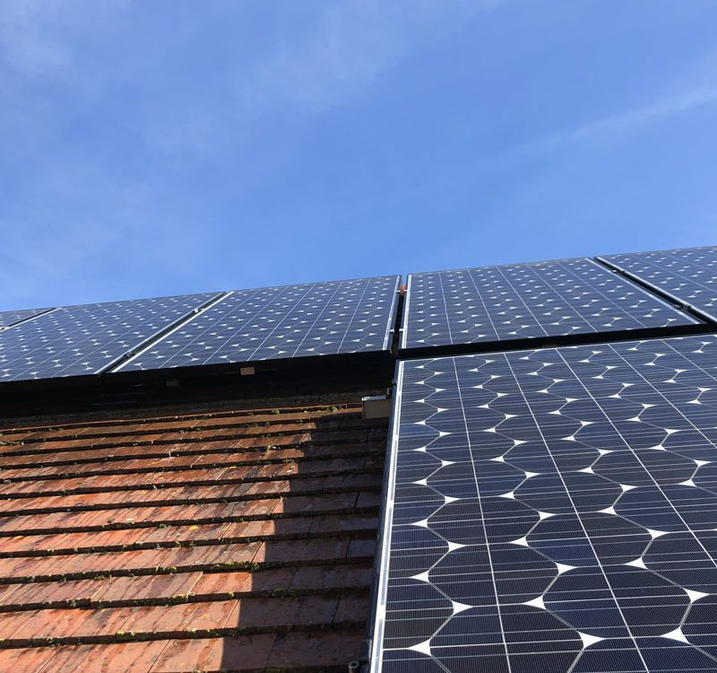 Solar pv maintenance on house roof
