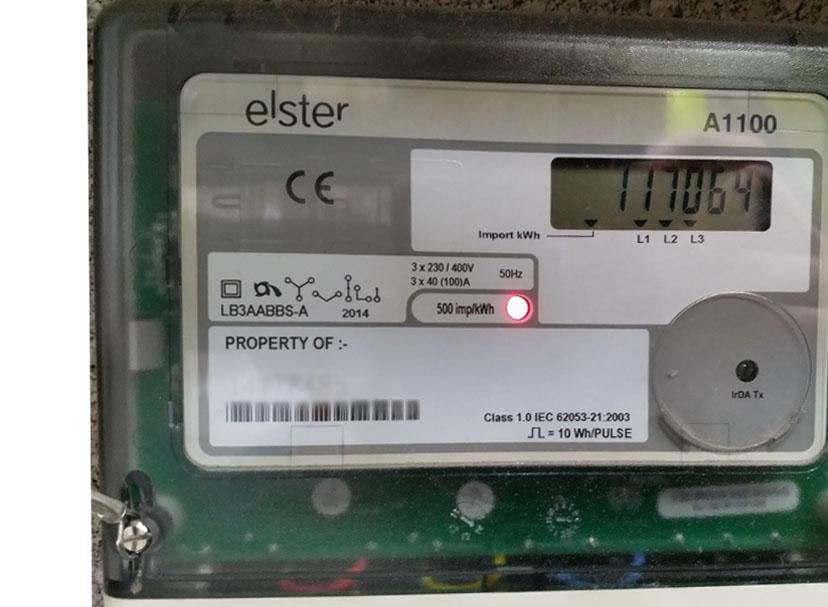 Solar meter reading