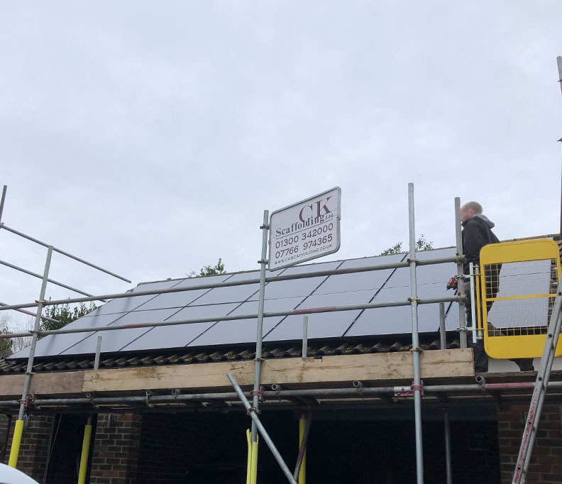 Solar install for Little fox garage