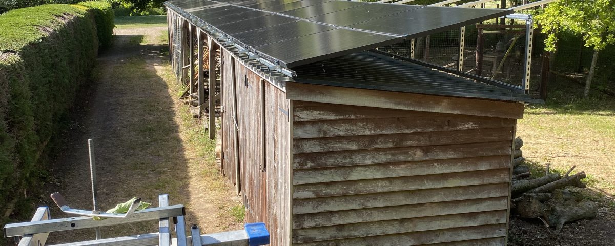 solar panel installation on farm