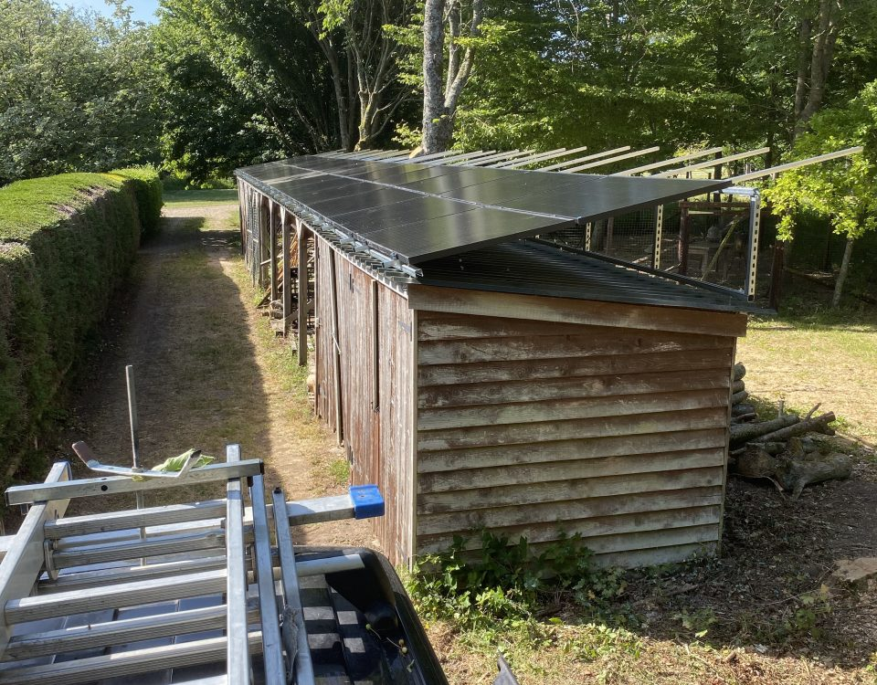 solar panel installation on farm