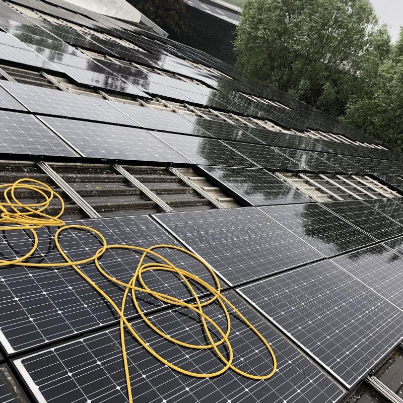 Maintenance on solar panels