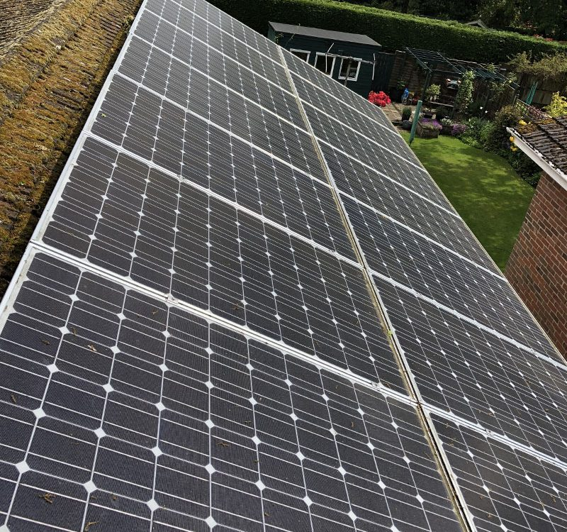 Domestic solar panel clean
