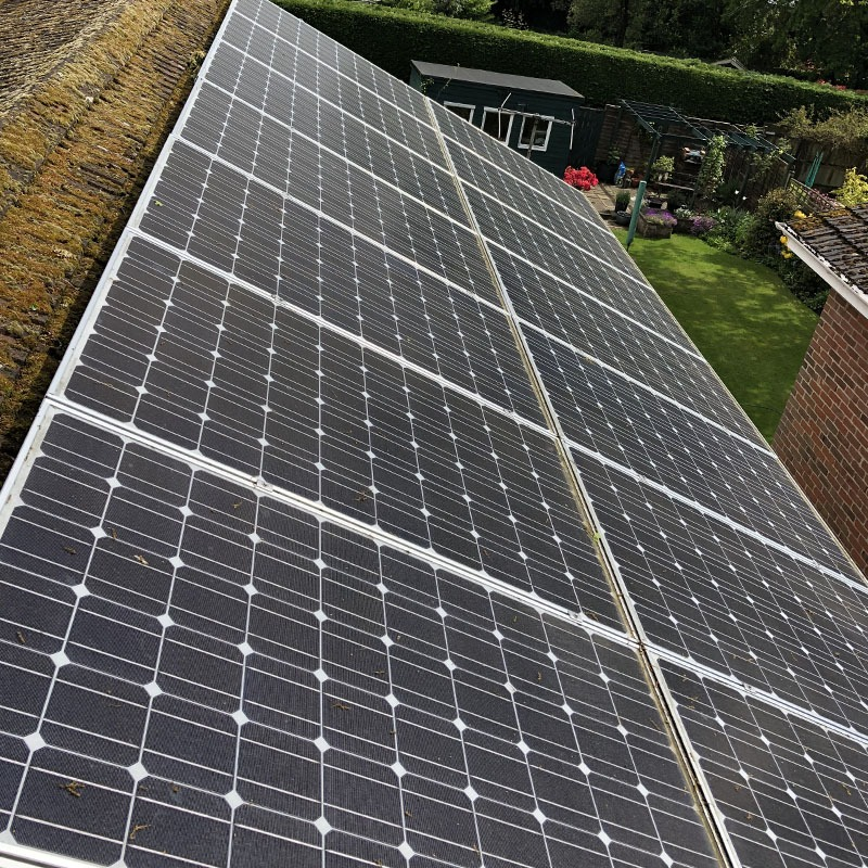 Domestic Solar Maintenance Clean For A Client In Hampshire