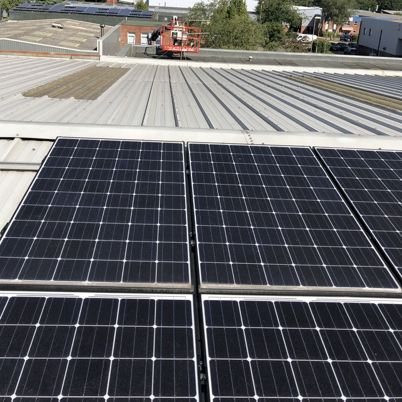 Commercial solar panel maintenance clean