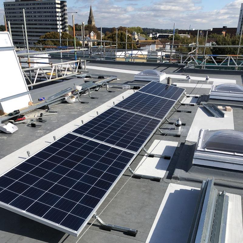 Solar panel install 604