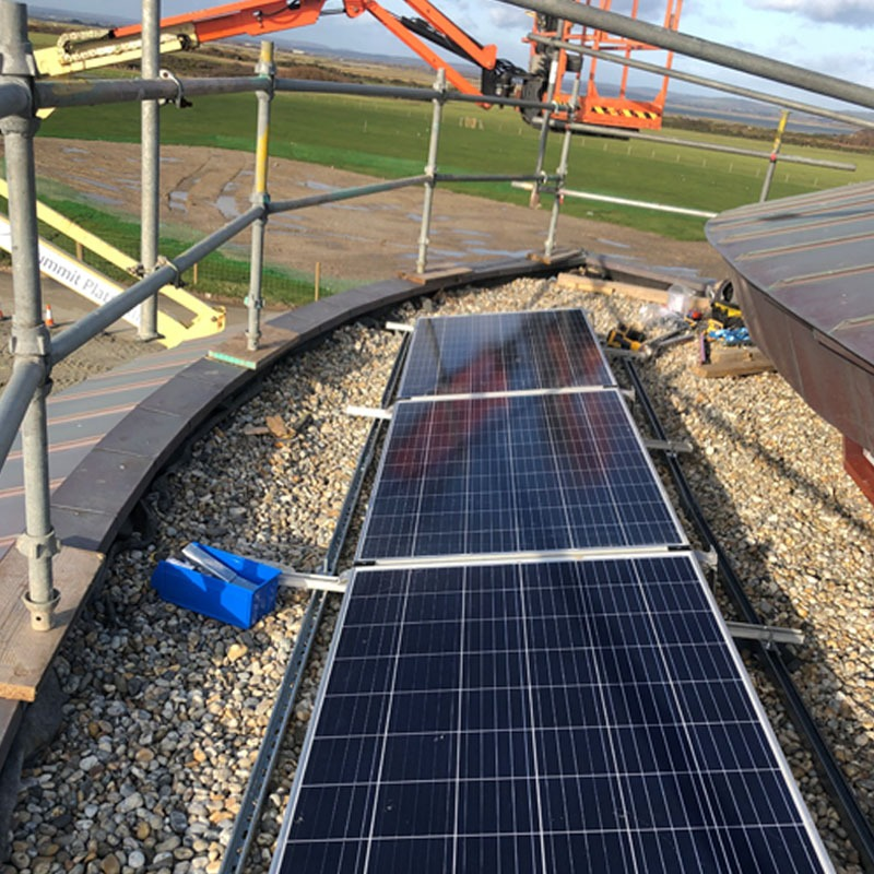 Commercial solar panel installation in West sussex