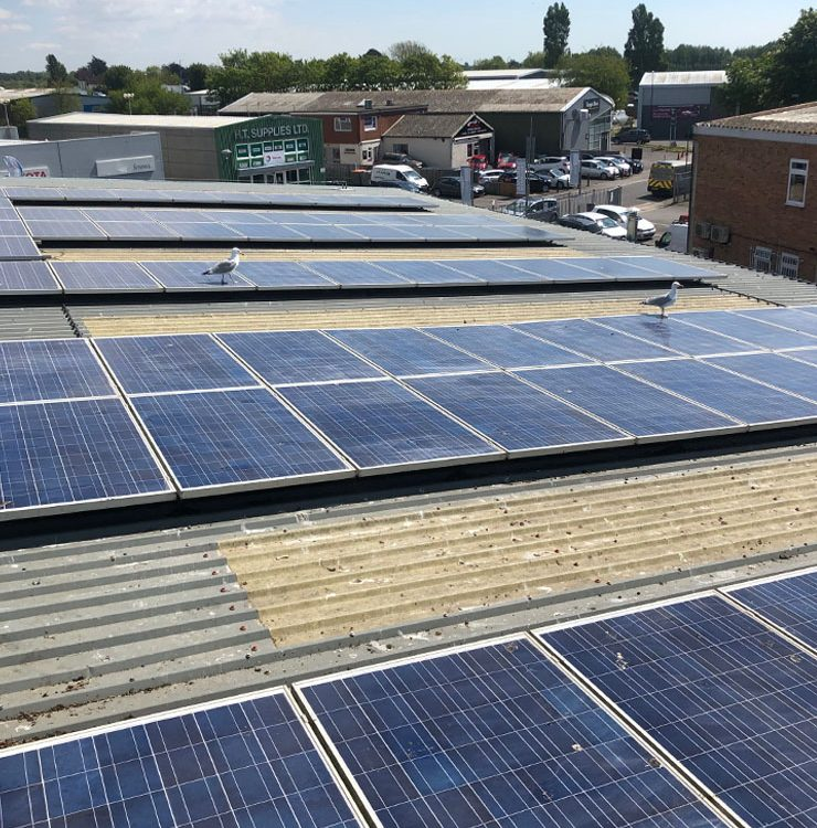 Commercial solar clean on panels