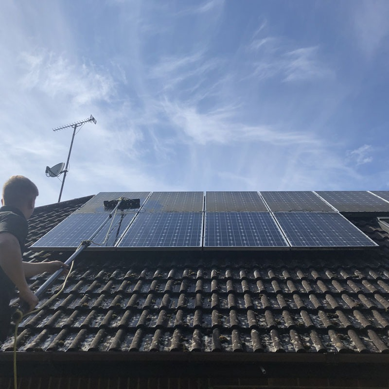 Solar panel maintenance for a customer in Ringwood