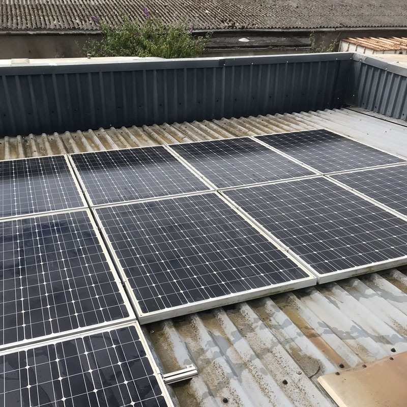 Commercial solar panel clean