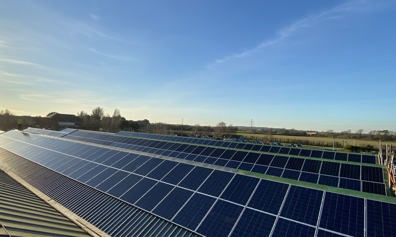 Commercial solar panel installation for stewarts