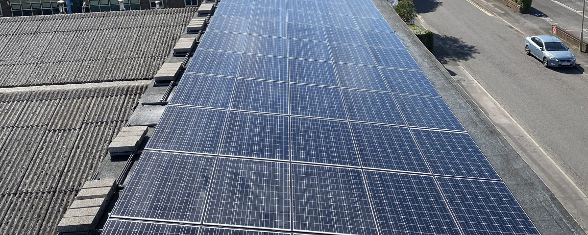solar panel cleaning on commercial roof