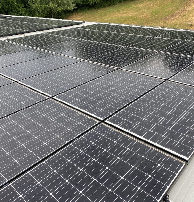 Commercial Solar Cleaning, Maintenance For A Client In  Hampshire