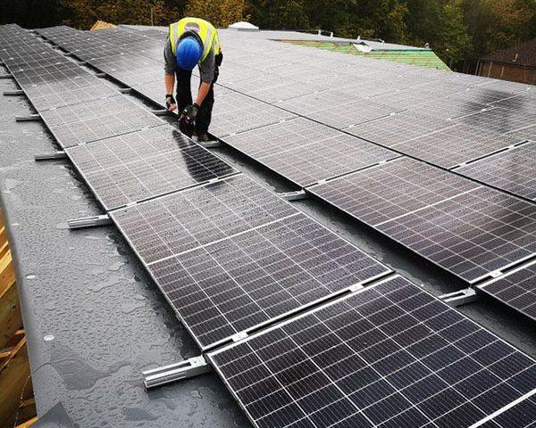 installing solar panels on roof